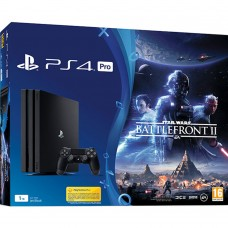 PlayStation 4 Pro Bundle (1 Tb, Star Wars Battlefront II, черный), , Консоли